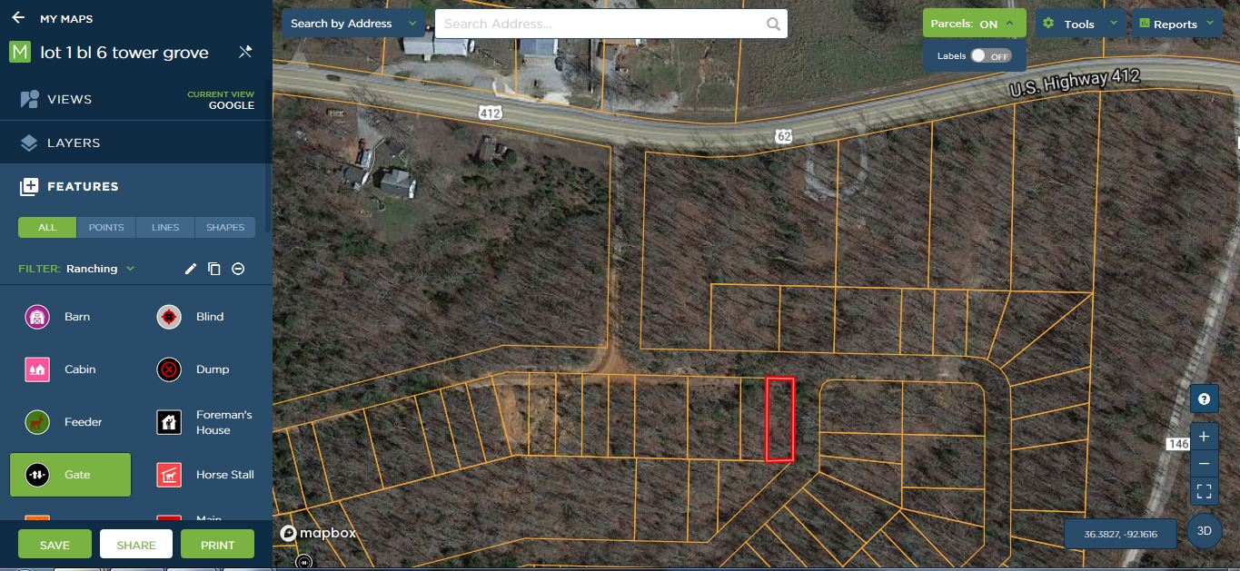 Lot 1 block 6 Henderson, Ar Tower grove subdivision open zoning off highway 62